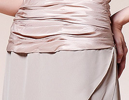 A-line Strapless Floor-length Chiffon Taffeta Mother of the Bride Dress With A Wrap
