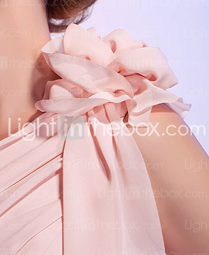 Sheath/Column One Shoulder Short/Mini Chiffon Cocktail Dress
