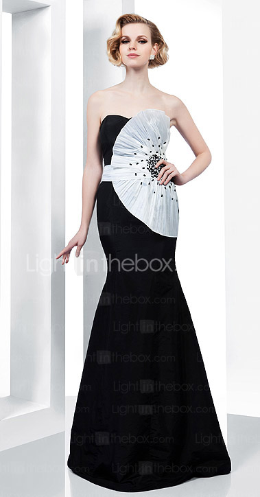 Trumpet/Mermaid Sweetheart Strapless Floor-length Taffeta Evening Dress