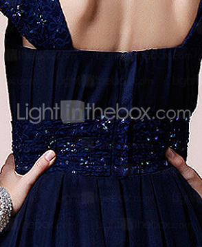 A-line Square Short Sleeve Knee-length Chiffon Mother of the Bride Dress