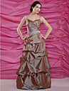 A-line Spaghetti Straps Floor-length Taffeta Mother of the Bride Dress