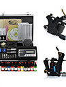 Perfect Quality Complete Set Tattoo Kits With 2 Tattoo Guns / Superior LCD Power  / 14 Bottles Color Ink