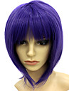 Capless Short Heat-resistant Violet Costume Party Wig