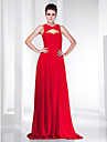 Sheath/Column V-neck Floor-length Chiffon Evening Dress inspired by Odette Yustman at Oscar