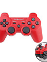 GOiGAME Wireless Two-Tone DualShock 3 Controller for PS3 (Red + Black)