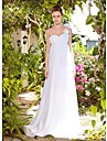 Chiffon Empire One Shoulder Floor-length Flower Wedding Dress on Strap inspired by Tia Mowry