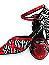 Customized Zebra Print With Trim Latin/Ballroom Performance Shoes (More Colors)