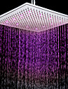 Contemporary 7 Colors Changing LED Chrome Shower Faucet Head of 12 inch