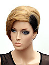 Capless Short High Quality Synthetic Japanese Kanekalon Straight Star Style Wig Rihanna' Hairstyle 1