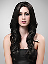 Hand Tied Style Lace Front Extra Long High Quality Synthetic Natural Look Black With Red European Weave Hair Wig