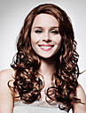 Lace Front Long High Quality Synthetic Dark Brown Curly Hair Wig