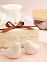 """Love Birds In The Window"" Ceramic Salt & Pepper Shakers Wedding Favor (Set of 2)"