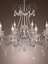 Chrome Finish Candle Crystal Chandelier with 8 lights (K9 Crystal)