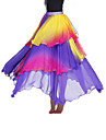 Dancewear Viscose With Tiers Performance Belly Skirt For Ladies More Colors