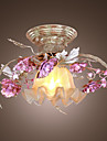 Floral loftslampe i steg featured decorration