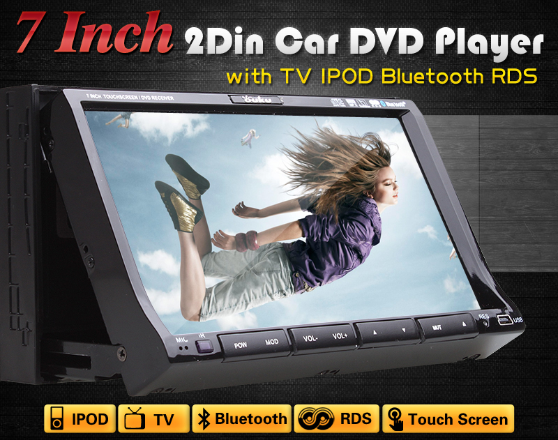 High Definition Indash Car DVD Stereo Player Radio TV Tuner BT Phone