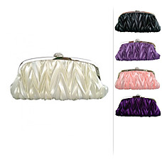wholesale Gorgeous Satin Evening Bag Handbag Purse Clutch. More Colors Available (0563)