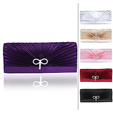 wholesale Gorgeous Satin/Silk Shell With Austrian stones Evening Bag Handbag Purse Clutch(0438-23740E14)