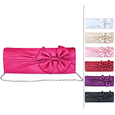 wholesale Gorgeous Soft Shining Cotton Shel lWith Applique Evening Bag Handbag Purse Clutch(0438-6972D53)