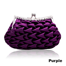 wholesale Gorgeous Satin Shell with Austria Rhinestone Evening Bag Handbag Purse Clutch(0986-8309)