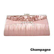 wholesale Matt Silk Shell Evening Bag Handbag Purse Clutch(0438-6990f41)