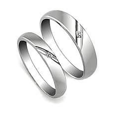 wholesale Amazing 925 Sterling Silver Lovers Rings Set Of 2(0801-HT244)