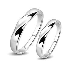 wholesale Amazing 925 Sterling Silver Lovers Rings Set Of 2(0801-HT250)