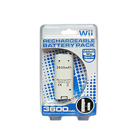 Rechargeable Battery Pack (3600mAh) for Wii/Wii U Remote Controller (GM236)