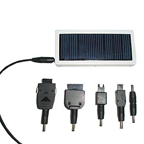 Solar Powered Battery Charger With Poly-Crystalline Silicon Solar Cells