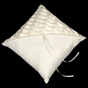 Elegance Satin Wedding Ring Bearer Pillow