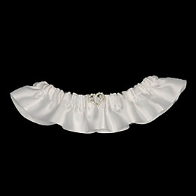 Satin With Beading Wedding Garters