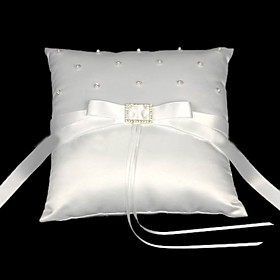 Love Knot Satin Wedding Ring Bearer Pillow