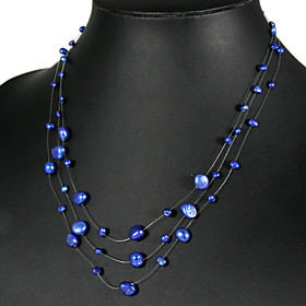 Beautiful DarkBlue Pearl Necklace