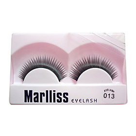 Natural Looking Eyelashes With Eyelash Glue 013# - 1 Pair Per Box