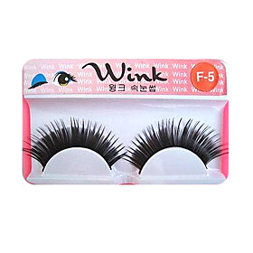 Longer Version of Runway Style Eyelashes F-5 - 1 Pair Per Box