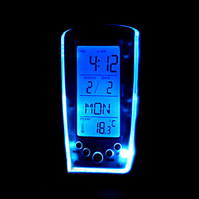 Blue Backlight Music Alarm Clock(GD-0707)
