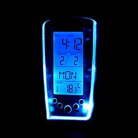 Blue Backlight Music Alarm Clock(GD-0707)