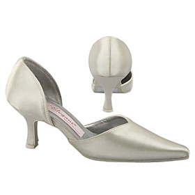 Top Quality Satin UpperMedium Heel Closed-toes With Wedding Shoes/Bridal Shoes (A1021I) .More Colors Available
