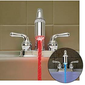 Heat Sensitive Color Changing Kitchen Faucet Light (Plastic, Chrome Finish)