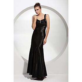 A-line Sweetheart Floor-length Applique Satin Bridesmaid/ Wedding Party/ Evening Dress (HSX1045)