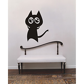 Cute cat Wall Sticker (0565-gz425)
