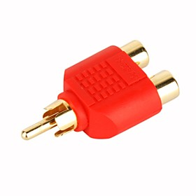 Composite RCA Cable 2 Female to 1 Male Convertor Plug (SMQC047)