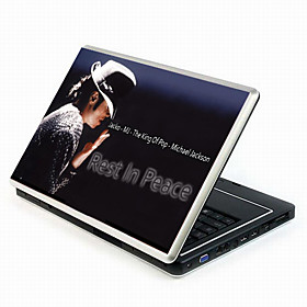 Michael Jackson Series Laptop Notebook Cover Protective Skin Sticker with Wrist Skins (SMQ3421)