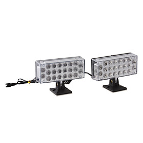 Red/Blue 2 22-LED Decorative Car Light Panels (DC 12V/2-Pack)