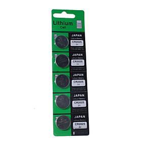 CR2025 3V Cell Button Battery (5-Pack)
