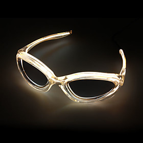 Trendy 2-Mode Flashing and Glowing EL Fashion Glasses (2 AA)