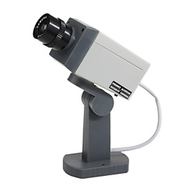 PIR Motion Activated Swivel Realistic Dummy Decoy Security Camera with Blinking LED (3 AA)