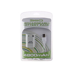 Rechargable USB Battery Pack (4800mAh) for XBox 360 Controllers