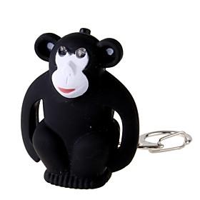 Flashing-Eyes Monkey 2-LED Flashlight Keychain with Sound Effects