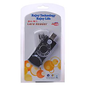 9-in-1 USB 2.0 SD MS SIM Card Reader (Black)